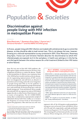 Élise Marsicano, Rosemary Dray-Spira, France Lert, et al.