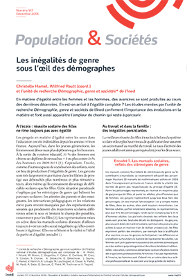 Christelle Hamel, Wilfried Rault, l'unité de recherche Démographie, genre et sociétés