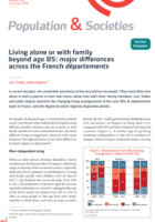 Living alone or with family beyond age 85: major differences across the French départements