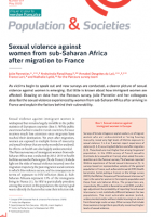 Sexual violence against women from sub-Saharan Africa after migration to France