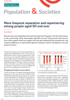 More frequent separation and repartnering among people aged 50 and over
