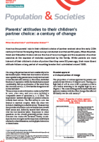Parents' attitudes to their children's partner choice: a century of change